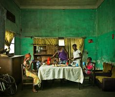 """Patrick Willocq - """"Pablo family"""" from the series """"Old colonial villas of Mbandaka"""", 2012 - 2013 Collaborative Art, Congo, African Art, Colonial, Contemporary Art, Illustration Art, Fine Art, Villas, Photography"""