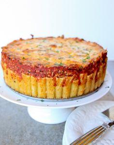 Итальянский пирог из макарон-рожков (ригатони) » Кулинарные рецепты