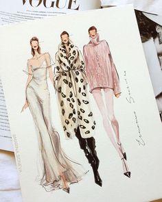 Fashion Design Sketchbook, Fashion Design Drawings, Fashion Sketches, Dress Sketches, Drawing Fashion, Fashion Design Illustrations, Fashion Illustration Portfolio, Drawing Sketches, Portfolio Mode