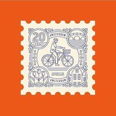 Line art Postage stamp Design Brochure, Logo Design, Typography Design, Web Design, Icon Design, Design Art, Decoration Design, Bike Design, Flat Design