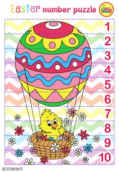 Easter themed Preschool Printables - Free worksheets, number puzzles - tracing letters, numbers and other activities - fun learning by BonTon TV Numbers For Kids, Numbers Preschool, Preschool Printables, Easter Activities, Spring Activities, Activities For Kids, Fun Crafts For Kids, Diy For Kids, Coloring Pages For Kids