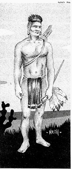 ancient warriors pics apache indians | Atakapa Warrior; sketch by Wilfred T. Neill based on old drawing