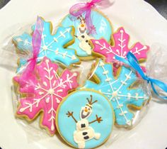 Handmade Custom Frozen and Olaf Theme by SweetRoseCookies on Etsy