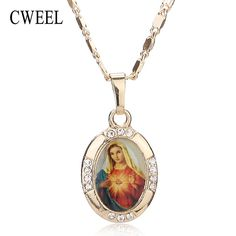 Women Men Cross Jesus Necklace Beads Jewelry Trendy Gold Plated Pendant For Vintage New Statement Holiday Accessories