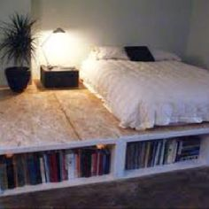 17 Excellent DIY Home Projects For Your Home Improvement - Shelf Bookcase - Idea. - 17 Excellent DIY Home Projects For Your Home Improvement – Shelf Bookcase – Ideas of Shelf Book - Platform Bed With Storage, Bed Platform, Beds With Storage, Underbed Storage Ideas, Diy Bedframe With Storage, Diy Platform Bed Frame, Pallet Platform Bed, Milk Crate Storage, Full Size Platform Bed