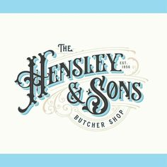 Beautiful vintage lettering for Hansley & sons