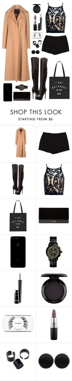 """""""Chilli Nights 🔥🔥🔥"""" by gwaihape ❤ liked on Polyvore featuring Ermanno Scervino, L'Agence, Chinese Laundry, Sans Souci, Balmain, Tory Burch, MAC Cosmetics and Thomas Sabo"""