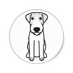 Get your hands on great customizable Dog stickers from Zazzle. Cartoon Stickers, Cartoon Dog, Russell Terrier, Terrier Dogs