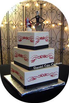 Nightmare Before Christmas Wedding Cake | by Graceful Cake Creations