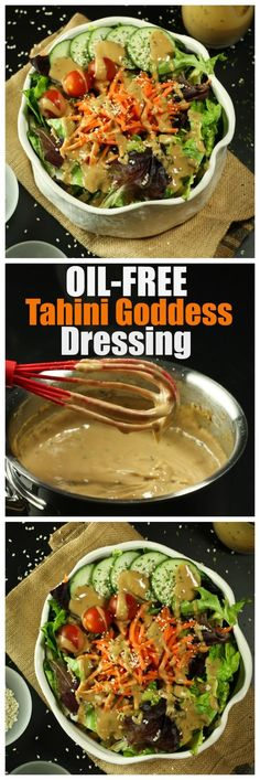Finally, a Tahini Goddess Dressing that is vegan, oil-free, rich, creamy and downright delicious. All you need is a whisk and a small pot, you don't even need a blender.