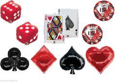 1 x Super Shape Foil Party Balloon for Casino / Las Vegas / Poker Themed Party