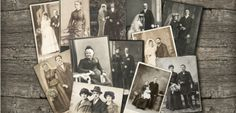 """""""Group of vintage family and wedding photos circa 1885-1920. Nostalgic sentimental pictures collage on white background"""". © LiliGraphie (http://www.shutterstock.com/gallery-683470p1.html). #Photograph #Photographs #Photo #Photos"""