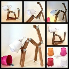 Wooden lamp Animal lamp Kids lamp Childrens lamps Desk