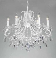 shabby chic chandelier  6 lights girls crystal chandelier lighting E9084 63cm W x 54cm H