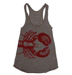 72953a64816e5 Lobster Print Tank Top - Womens Graphic Tees - You re my Lobster Lobster  Claw Lobster Shirt Lobsterfest Shirt Tanktop Gym Tank Running Tank