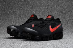 Nike Air VaporMax Flyknit Black Red
