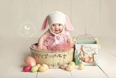 Simple Easter portrait setup.