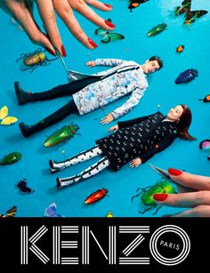 Una colaboración con la revista ToiletPaper, y protagonizada por Sean O'Pry y Rinko Kikuchi, para la nueva campaña FW13 de Kenzo.