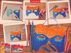 Que tal chamar seu filho para fazer uma máscara de super-herói neste Dia dos Pais?