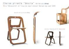 Christian Desile, cadeira dobrável, em bambu com PET reciclado