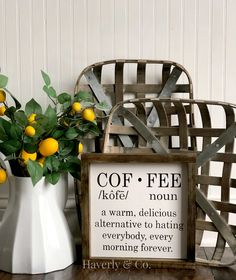 Coffee Noun Sign// Definition Sign// Coffee Lover Decor//Home Decor// Coffee Decor//Kitchen Decor// Fixer Upper Style