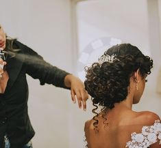 Curly Bridal Hair, Natural Hair Wedding, Curly Hair Updo, Wedding Hair And Makeup, Curly Hair Styles, Natural Hair Styles, Natural Wedding Hairstyles, Bride Hairstyles, Wedding Hair Inspiration