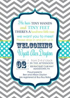 Meet And Greet Shower Invitations Boys Sip By Papercleverparty Baby Showers Fun