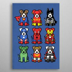 All dogs are superdogs- metal poster from @displate