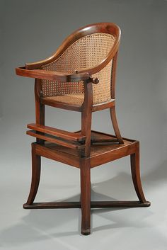 Regency Mahogany Convertible Child's High Chair, England, - M. Cool Chairs, Table And Chairs, A Table, High Chairs, Georgian Furniture, Antique Furniture, Regency Furniture, Furniture Styles, Cool Furniture