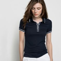 T-shirt polo, mangas curtas - LAURA CLEMENT LAURA CLEMENT