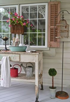 Cottage touches on the porch