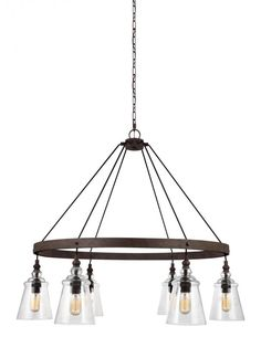 Buy the Feiss Dark Weathered Iron Direct. Shop for the Feiss Dark Weathered Iron Loras 6 Light Wide Ring Chandelier and save. Circular Chandelier, Ring Chandelier, Wagon Wheel Chandelier, 5 Light Chandelier, Chandelier Shades, Dark Weather, Transitional Chandeliers, Large Chandeliers, Thing 1