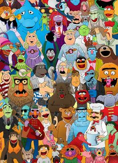 Fan Art Friday: Muppets by techgnotic on DeviantArt Jim Henson Puppets, Les Muppets, Muppet Babies, Fraggle Rock, The Muppet Show, Miss Piggy, Kermit The Frog, Elmo, Cartoon Characters
