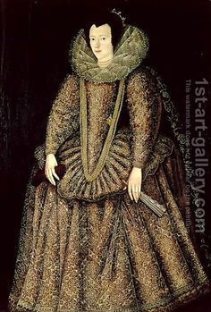 John de, the Elder Critz:Portrait of a Lady in Elizabethan Dress