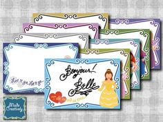 Digital Disney Autograph Pages  Princess by MadeCreatively on Etsy