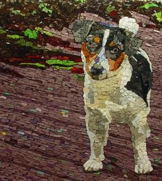 Well done Mosaic - This looks like my Bubbie! Mosaic Tile Art, Mosaic Artwork, Pebble Mosaic, Mosaic Diy, Mosaic Garden, Mosaic Crafts, Mosaic Projects, Stained Glass Projects, Stained Glass Art