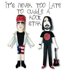 Axl Rose and Dave Grohl from Katkiller http://knuffelsalacarteblog.blogspot.nl/