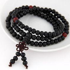 Fashion Wood Beads Buddha Bracelet Men Women 2017