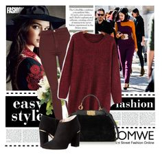 """""""Romwe"""" by nihalkaya ❤ liked on Polyvore featuring Topshop, Fendi and Kate Spade"""