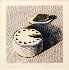 Wayne Thiebaud, Cake With Slice 1964.