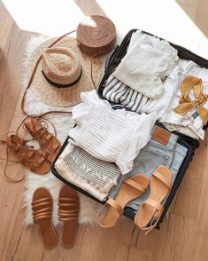 0c3dde3927f55 @girlmeetsgold mexico vacation outfits, vacation outfits casual, levi's  style, levi's wedgie shorts, madewell sandals, madewell style, classic summer  style, ...