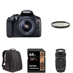 Amazon.com : Canon EOS Rebel T6 Digital SLR Camera Kit with EF-S 18-55mm f/3.5-5.6 IS II Lens (Black) : Camera & Photo