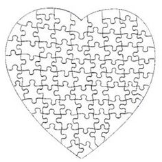Heart Shaped Glossy Jigsaw Puzzle Custom Printed with your own picture by TheLaughingProfessor Puzzle Piece Crafts, Puzzle Art, Puzzle Pieces, Mothers Day Crafts, Crafts For Kids, Arts And Crafts, Paper Crafts, Puzzle Piece Template, Boyfriends