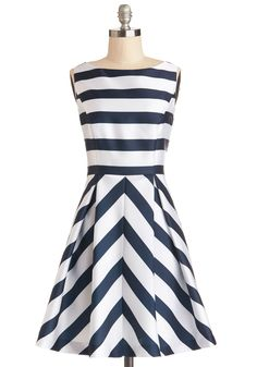 Flight Stripes Dress. Youre heading to warmer climes for the long weekend, so you slip on this sleeveless striped dress for your flight!  #modcloth