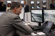 Don Felipe dirige un mensaje a las patrullas de la Agrupación de Tráfico de la Guardia Civil y los helicópteros de la Dirección General de Tráfico. Dirección General de Tráfico. Madrid, 06.04.2015