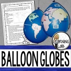 World Geography can be boring for students but you can make it FUN! Your kiddos will LOVE creating their own globe using a balloon and cut-outs.Don't want to use a balloon? Some teachers have told me they've used paper mache, pumpkins, and posters. 3rd Grade Social Studies, Social Studies Classroom, Social Studies Activities, 4th Grade Classroom, Teaching Social Studies, Classroom Ideas, Teaching Maps, Teaching Ideas, World Geography