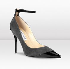 Jimmy Choo | Balma | Suede and Patent Pointed Toe Pumps | JIMMYCHOO.COM