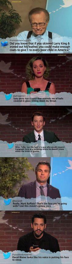 Top 10 Funniest Tweets About Celebrities ft. Larry KIng