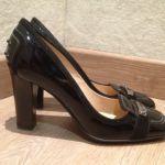Tod's | Escarpins vernis & velours noirs -  en vente sur www.troc-choc.com