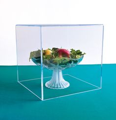 5-sided Acrylic Box Case - Wholesale to the Trade. Sparkling clear acrylic Box Cases with one open side and polished, bevel-cut edges. Available with a hardwood base or clear or black acrylic bases. Sizes 4″ up to 18″ tall and wide. Businesses call for pricing or to check stock : 800-600-9393 tel